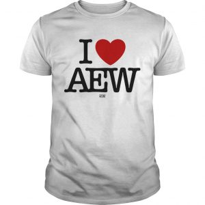 I Love AEW White  Unisex