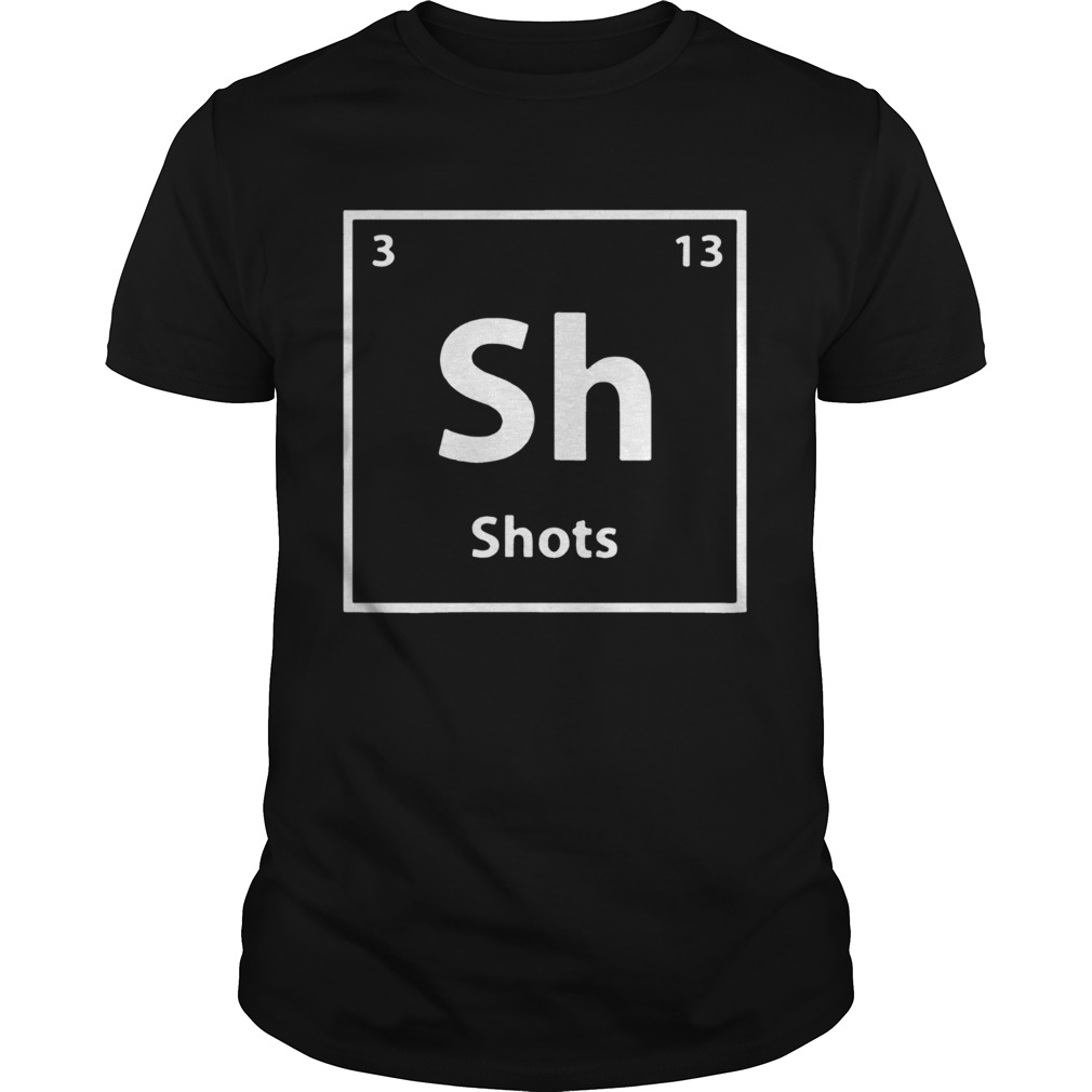 Periodic table for drunks shots  Unisex