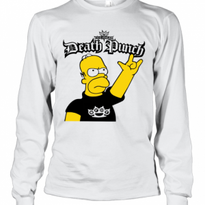 The Simpson Five Finger Death Punch T-Shirt Long Sleeved T-shirt
