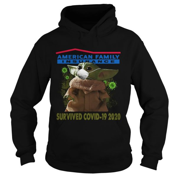 Baby Yoda American Family Insurance Survived Covid 19 2020  Hoodie