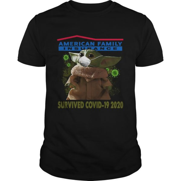 Baby Yoda American Family Insurance Survived Covid 19 2020  Unisex