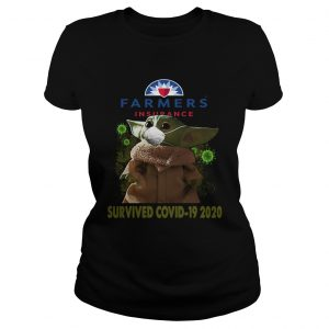 Baby Yoda Farmers Insurance Survived Covid 19 2020  Classic Ladies