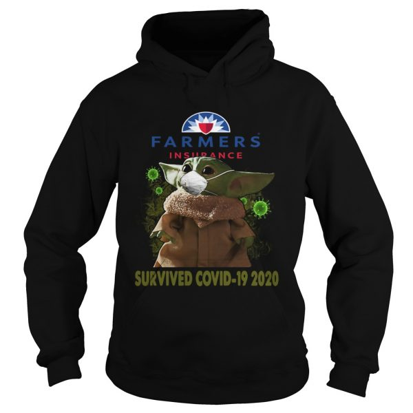 Baby Yoda Farmers Insurance Survived Covid 19 2020  Hoodie