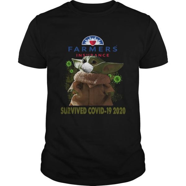 Baby Yoda Farmers Insurance Survived Covid 19 2020  Unisex