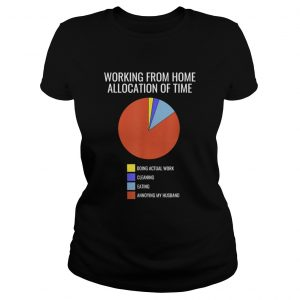 Pie Chart Annoying Husband Wife Working From Home  Classic Ladies