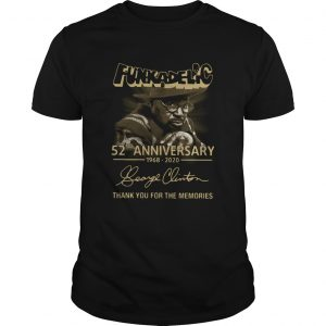 Funkadelic 52nd Anniversary 1968 2020 Thank You For The Memories  Unisex