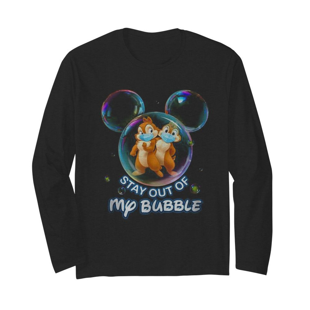 Stay out of my bubble Mickey mouse  Long Sleeved T-shirt