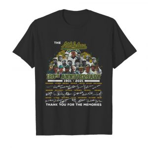 The Athletics 120th Anniversary 1901 2021 Thank You For The Memories Signatures  Classic Men's T-shirt