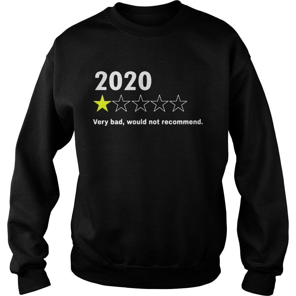 2020 Very Bad Would Not Recommend  Sweatshirt