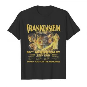 Frankenstein 89th Anniversary 1931-2020 Thank You For The Memories Signature  Classic Men's T-shirt