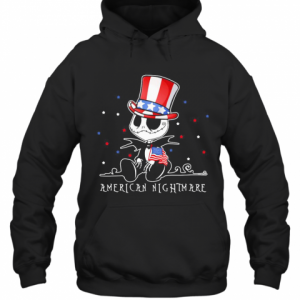 Jack Skellington American Nightmare 4Th Of July Independence Day T-Shirt Unisex Hoodie