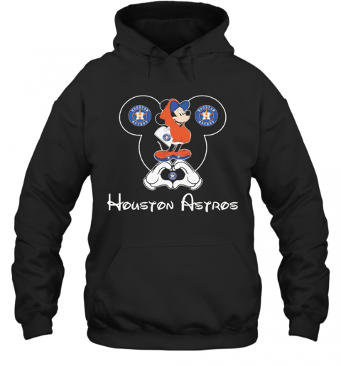 Mickey Mouse Houton Astros Heart T-Shirt Unisex Hoodie