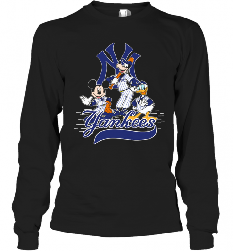Mickey Mouse Pluto Donald Duck New York Yankees T-Shirt Long Sleeved T-shirt
