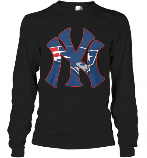 New England Patriots Inside New York Yankees T-Shirt Long Sleeved T-shirt