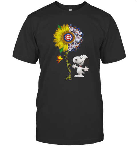 Snoopy And Woodstock You Are My Sunshine Chicago Cubs Sunflower T-Shirt Classic Men's T-shirt