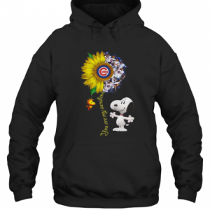 Snoopy And Woodstock You Are My Sunshine Chicago Cubs Sunflower T-Shirt Unisex Hoodie