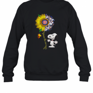 Snoopy And Woodstock You Are My Sunshine Chicago Cubs Sunflower T-Shirt Unisex Sweatshirt