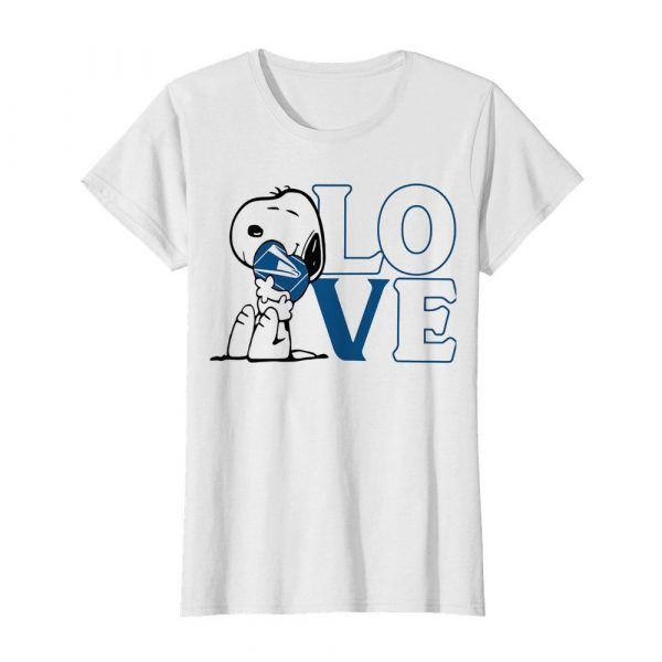Snoopy hug heart love united states postal service  Classic Women's T-shirt