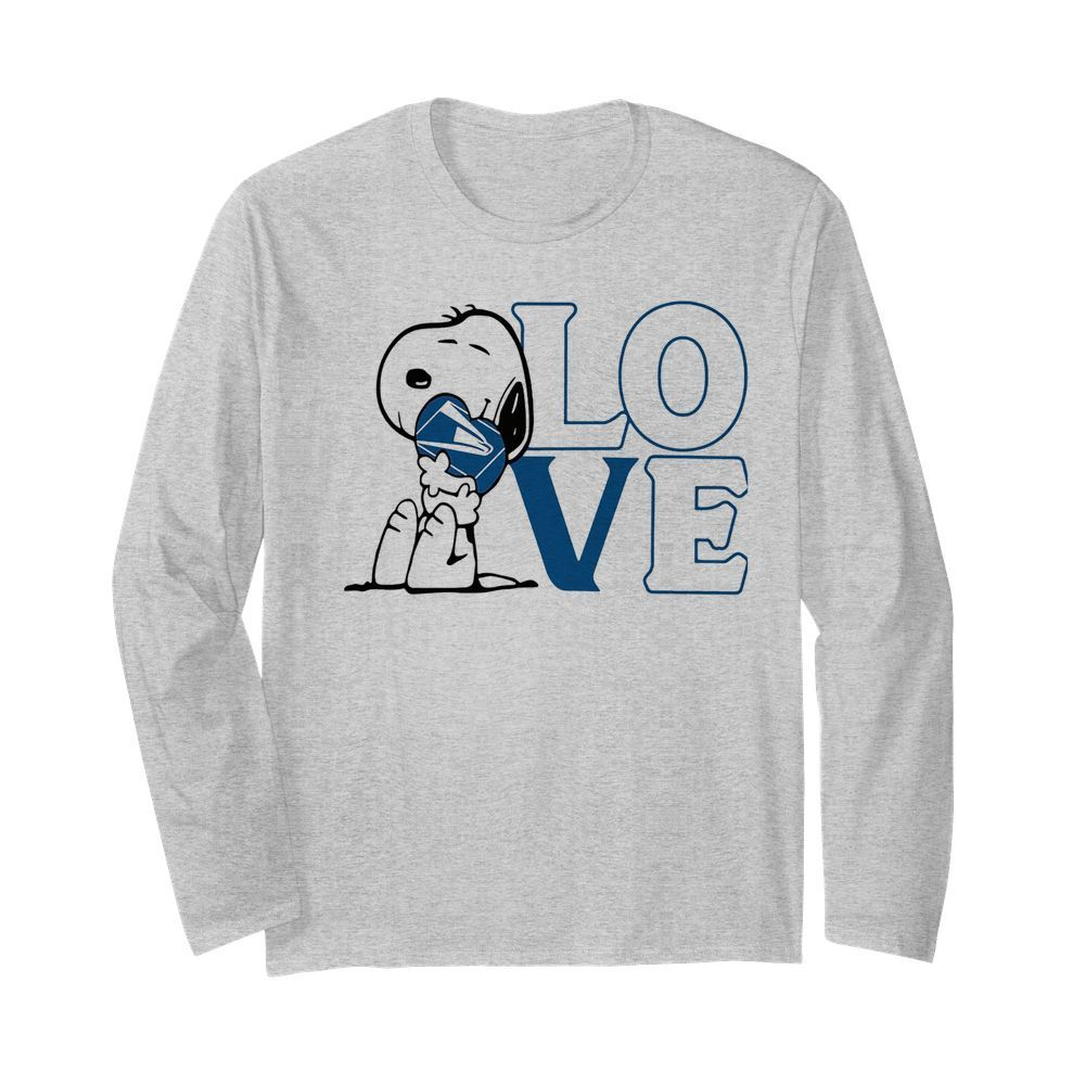 Snoopy hug heart love united states postal service  Long Sleeved T-shirt