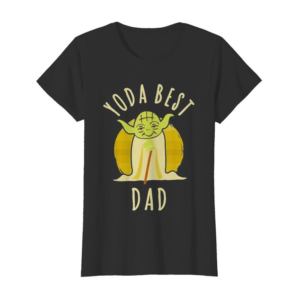 Star wars master yoda best dad father's day vintage retro  Classic Women's T-shirt