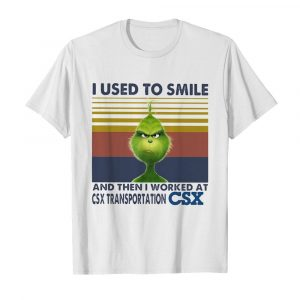 The grinch I used to smile and then I worked at csx transportation csx vintage retro  Classic Men's T-shirt