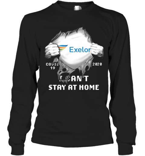 Blood Insides Exelon Covid 19 2020 I Can'T Stay At Home T-Shirt Long Sleeved T-shirt
