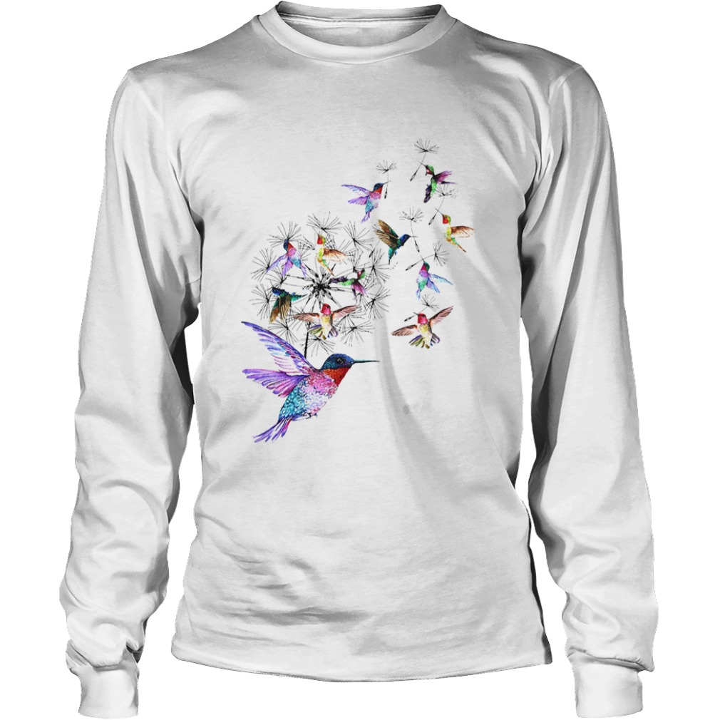 Hummingbird Dandelion  Long Sleeve