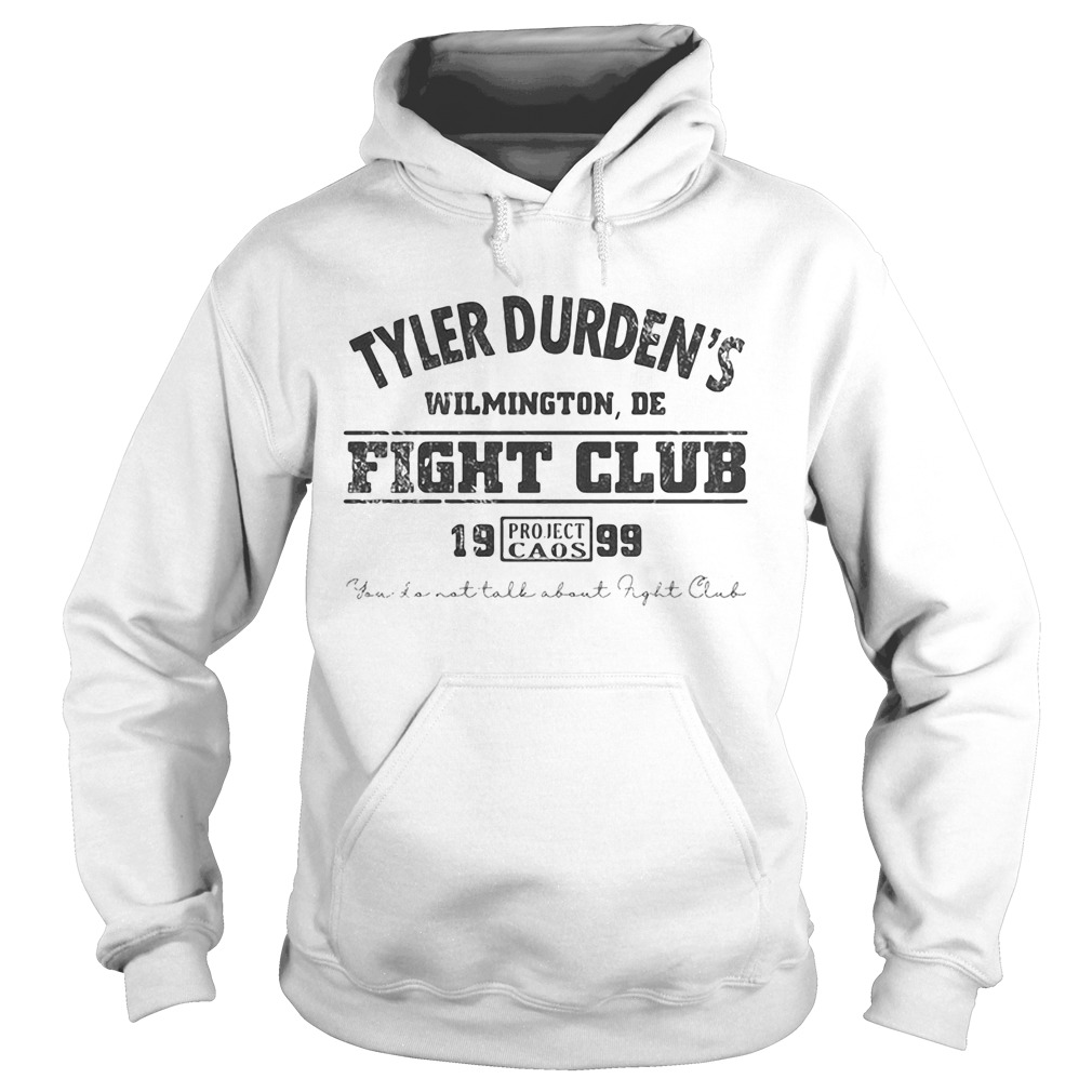 Tyler durdens wilmington de fight club 19 99 project caos youll not tall about fight club  Hoodie