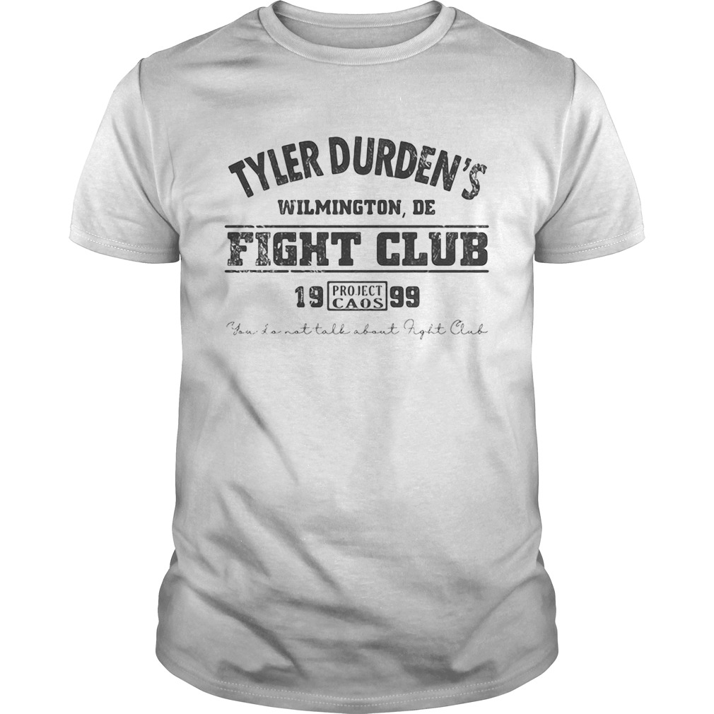 Tyler durdens wilmington de fight club 19 99 project caos youll not tall about fight club  Unisex