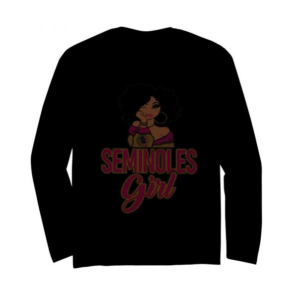 Florida State Seminoles Black Girl  Long Sleeved T-shirt