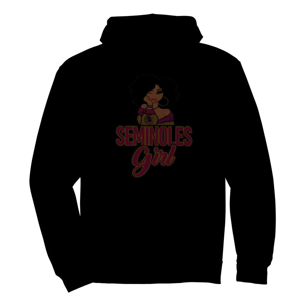 Florida State Seminoles Black Girl  Unisex Hoodie