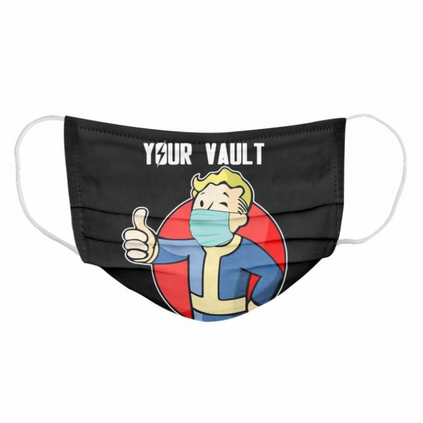 Stay In Your Vault Fallout Boy  Cloth Face Mask