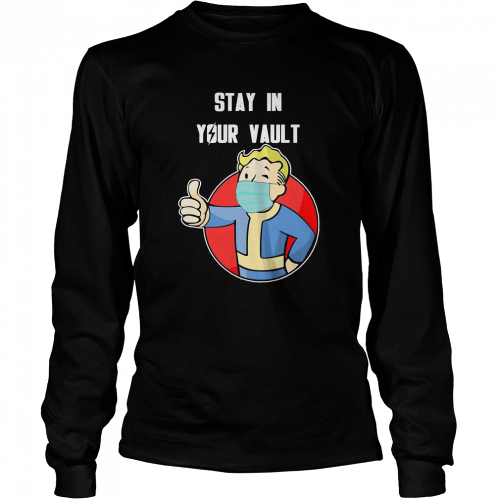 Stay In Your Vault Fallout Boy  Long Sleeved T-shirt