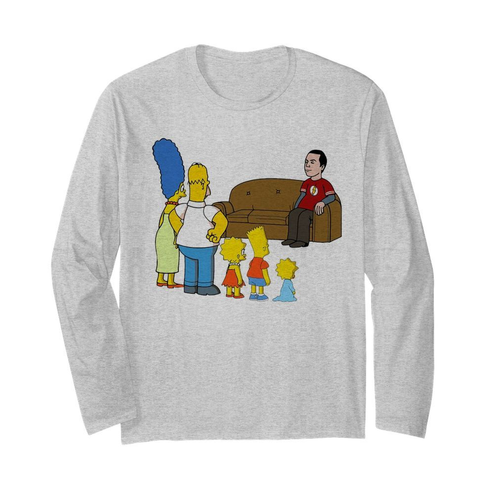 The Simpsons Family And Bazinga  Long Sleeved T-shirt