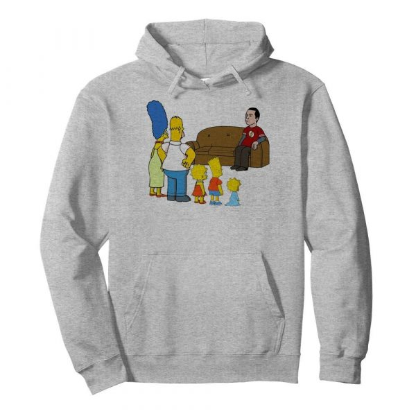The Simpsons Family And Bazinga  Unisex Hoodie
