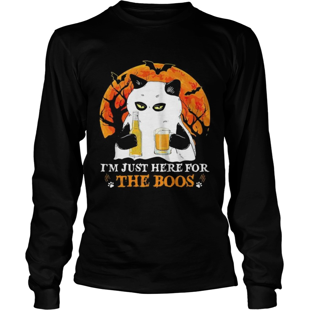 im just here for the boos moon blood halloween  Long Sleeve
