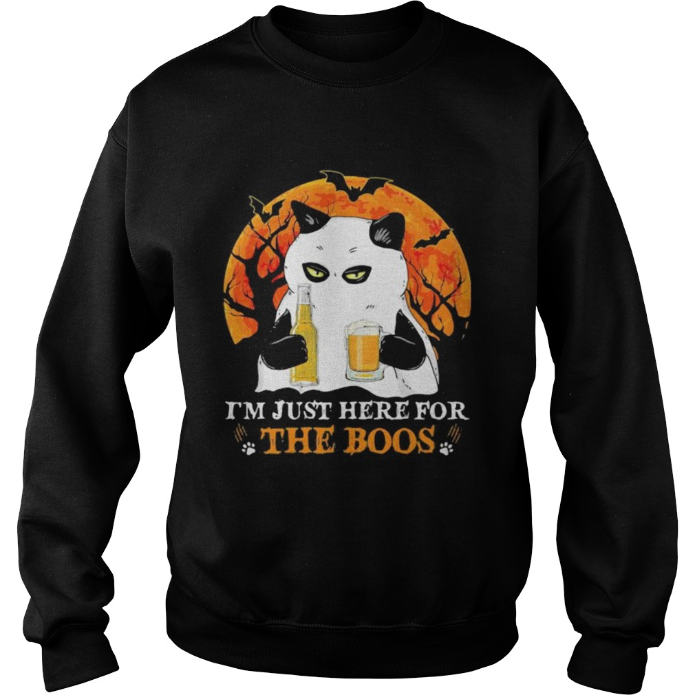 im just here for the boos moon blood halloween  Sweatshirt