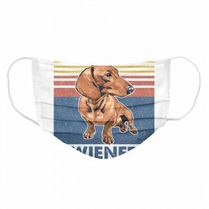 Dachshund I Have A Small Wiener Vintage  Cloth Face Mask