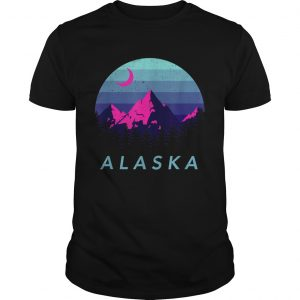 Alaska Vintage Mountain Sunset Outdoors Hiking Souvenir  Unisex