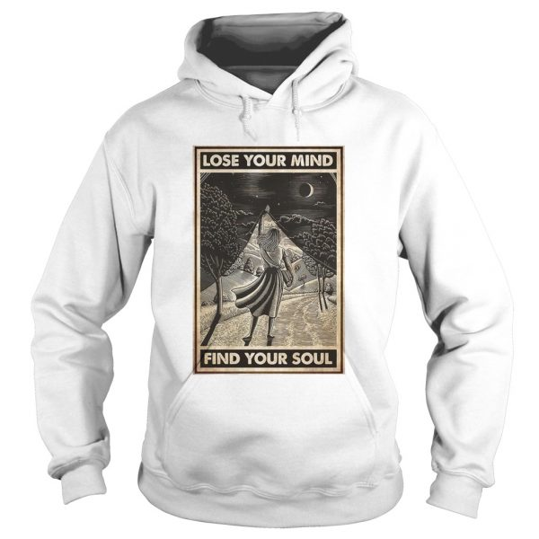 Girl With Books Into The Forest Lose Your Mind Find Your Soul  Hoodie