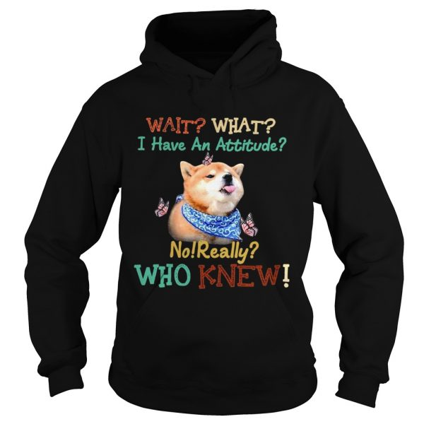 Wait What I Have An Attitude No Really Who Knew  Hoodie