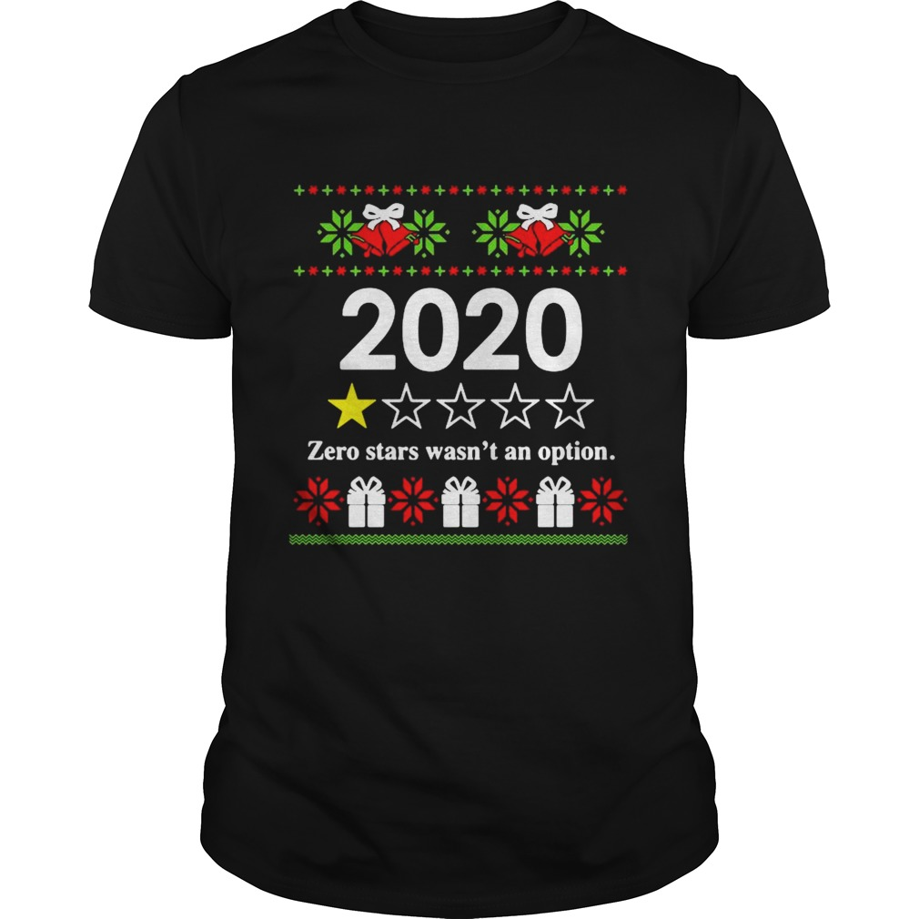 2020 zero stars wasnt an option Ugly Christmas  Unisex