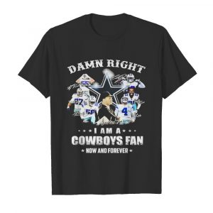 Damn Right I Am Cowboys Fan Now And Forever Signatures  Classic Men's T-shirt