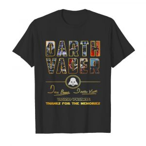 Darth Vader Star Wars 85 year David Prowse thank you for the memories signatures  Classic Men's T-shirt