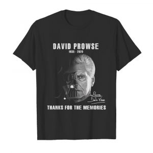 David Prowse Darth Vader Star War 1935 2020 thank you for the memories signatures  Classic Men's T-shirt