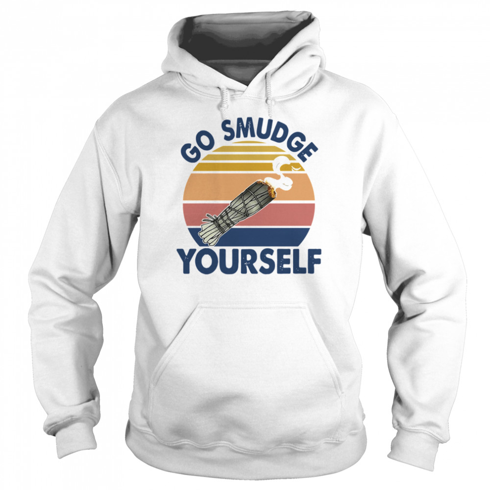 Go Smudge Yourself Vintage Sage Bundle Smoking Gift Bella Canvas  Unisex Hoodie
