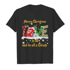 Love Merry Christmas To All And To All A Kansas City Chiefs  Classic Men's T-shirt