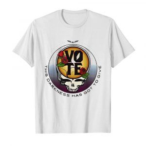 This Darkness Has Got To Give Vote Dark Star Grateful Dead Steal Face Skull Roses  Classic Men's T-shirt