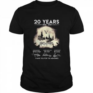 20 Years 2001 2021 Harry Potter Signatures Thank You For The Memories  Classic Men's T-shirt