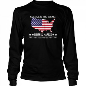 America is the winner Biden and Harris inauguration day 2021  Long Sleeved T-shirt